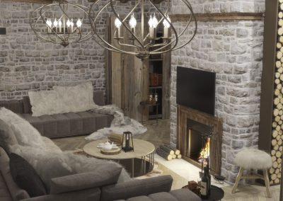 Winter House Livingroom