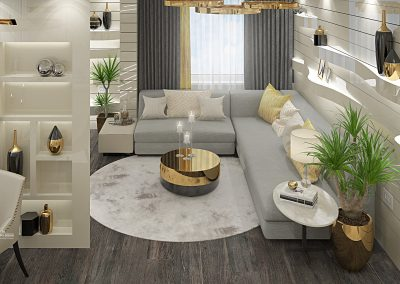 Apartment Light And Gold Interior