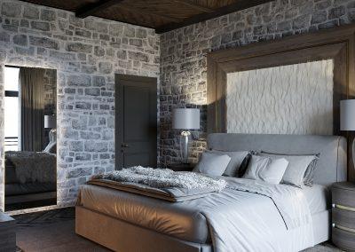 Bedroom in Winter House
