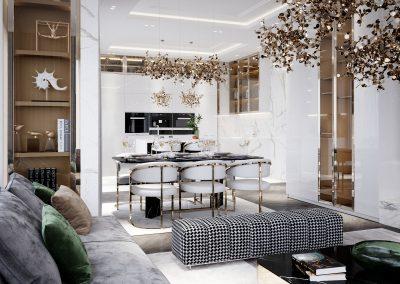 Luxury White & Gold House