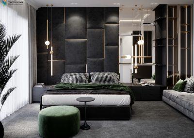 Amazing Bedroom Black & Green