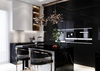 Luxury Black & Gold House