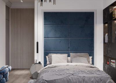 Blue stylish room for boy