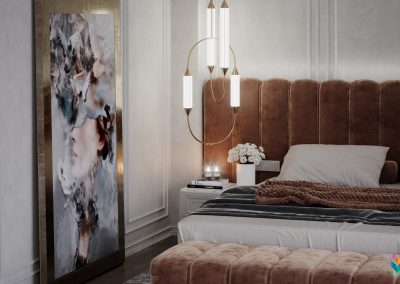 Luxury Bedroom with Wardrobe and Bath