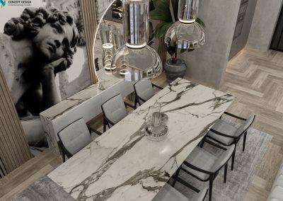 Living Room at House Markovo